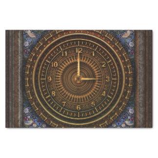Steampunk Vintage Old-Fashioned Copper Clockwork Tissue Paper