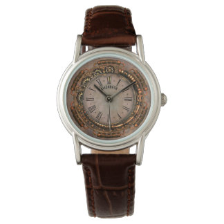 Steampunk Vintage Rusty Art Deco Clock Watch