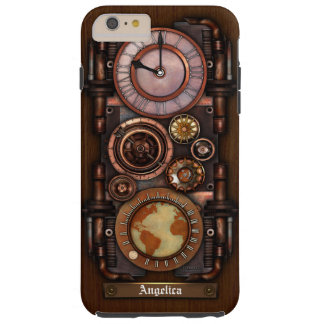 Steampunk Vintage Timepiece #1B Tough iPhone 6 Plus Case