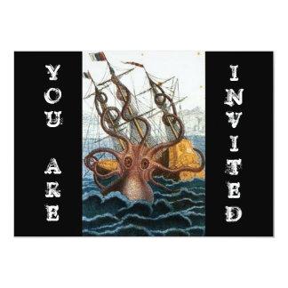 Steampunk Vintage Victorian | Kraken Octopus Card
