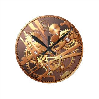 steampunk watch gears round clock