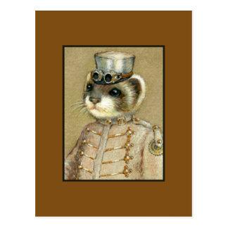 Steampunk Weasel Postcard
