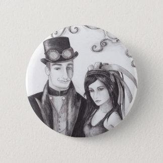 Steampunk Wedding - Button