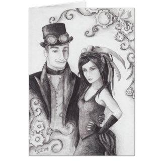Steampunk Wedding - Notecard