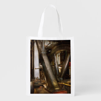 Steampunk - Wheels of progress Reusable Grocery Bag