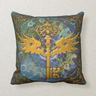 Steampunk Winged Key Cushion