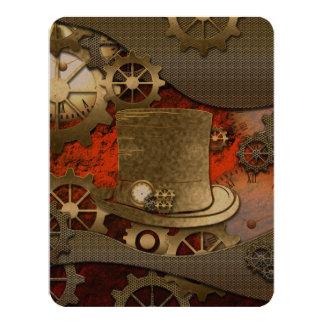 Steampunk witch wonderful hat card