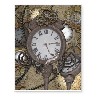 Steampunk with clocks and gears,