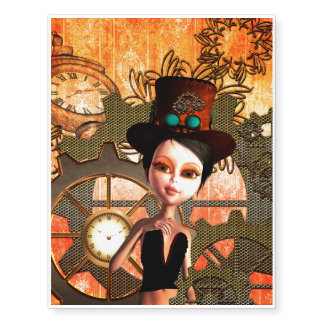 Steampunk with girl, clocks and giers