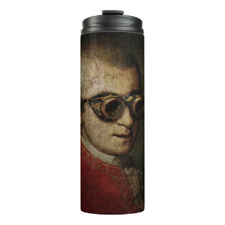 Steampunk Wolfgang Amadeus Mozart in Brass Goggles Thermal Tumbler