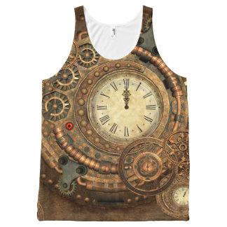 Steampunk, wonderful clockwork All-Over print singlet