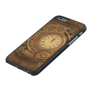 Steampunk, wonderful clockwork carved® maple iPhone 6 slim case