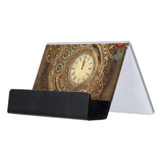 Steampunk, wonderful clockwork desk business card holder