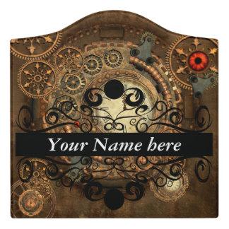 Steampunk, wonderful clockwork door sign