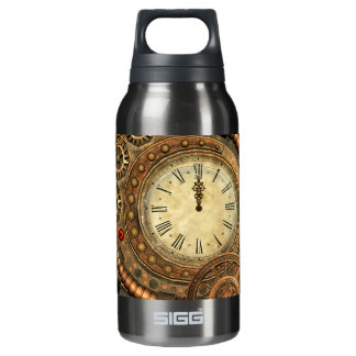 Steampunk, wonderful clockwork insulated water bottle