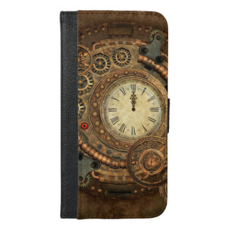 Steampunk, wonderful clockwork iPhone 6/6s plus wallet case