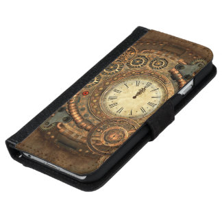 Steampunk, wonderful clockwork iPhone 6 wallet case