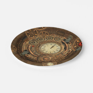 Steampunk, wonderful clockwork paper plate