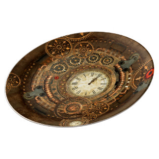 Steampunk, wonderful clockwork plate