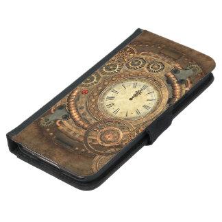 Steampunk, wonderful clockwork samsung galaxy s5 wallet case