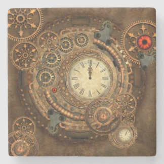 Steampunk, wonderful clockwork stone coaster
