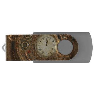 Steampunk, wonderful clockwork USB flash drive