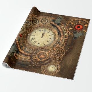 Steampunk, wonderful clockwork wrapping paper