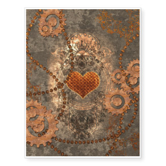 Steampunk, wonderful heart made of rusty metal