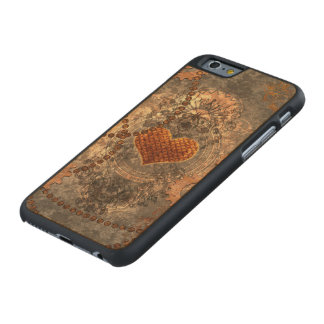 Steampunk, wonderful heart made of rusty metal carved® maple iPhone 6 case
