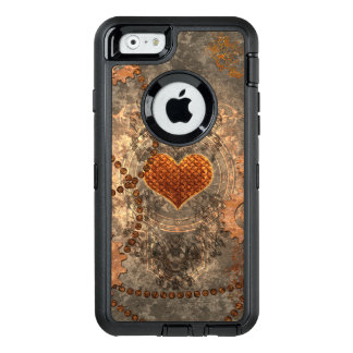 Steampunk, wonderful heart made of rusty metal OtterBox iPhone 6/6s case