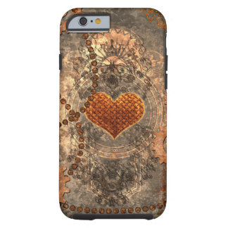 Steampunk, wonderful heart made of rusty metal tough iPhone 6 case