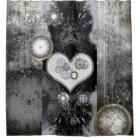 Steampunk, wonderful heart shower curtain