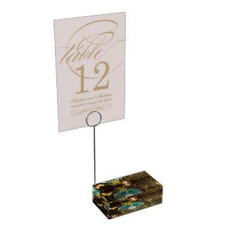 Steampunk, wonderful heart table card holder
