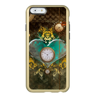 Steampunk, wonderful heart with clocks incipio feather® shine iPhone 6 case
