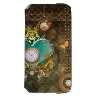 Steampunk, wonderful heart with clocks incipio watson™ iPhone 6 wallet case