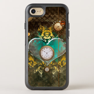 Steampunk, wonderful heart with clocks OtterBox symmetry iPhone 8/7 case
