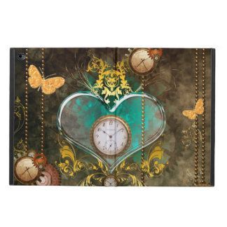 Steampunk, wonderful heart with clocks powis iPad air 2 case