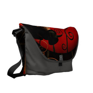 Steampunk, wonderful steampunk lady in the night courier bags