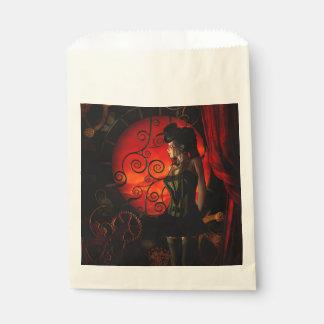 Steampunk, wonderful steampunk lady in the night favour bag