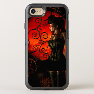 Steampunk, wonderful steampunk lady in the night OtterBox symmetry iPhone 8/7 case
