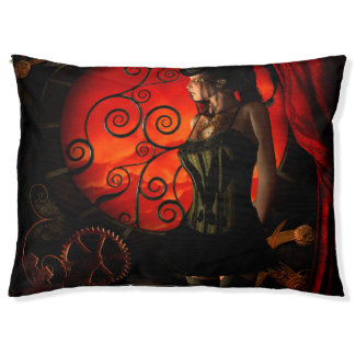 Steampunk, wonderful steampunk lady in the night pet bed