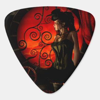 Steampunk, wonderful steampunk lady in the night plectrum