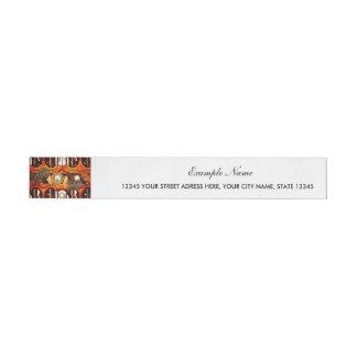 Steampunk Wraparound Address Label