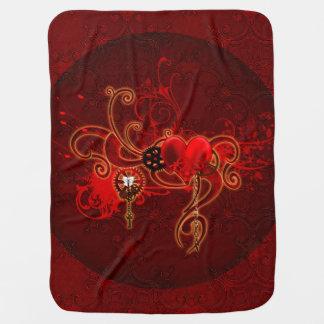 Steampunk, wunderful heart baby blanket