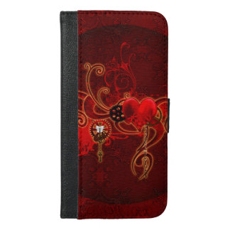 Steampunk, wunderful heart iPhone 6/6s plus wallet case
