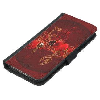 Steampunk, wunderful heart samsung galaxy s5 wallet case