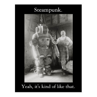 Steampunk. Yeah, it's kind of like that. v2 Postcard