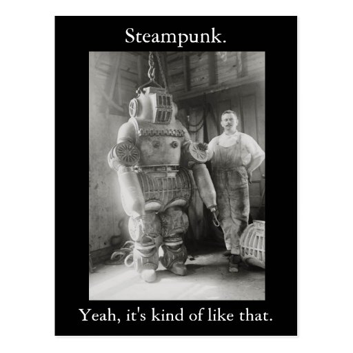 Steampunk. Yeah, it's kind of like that. v2 Post Cards