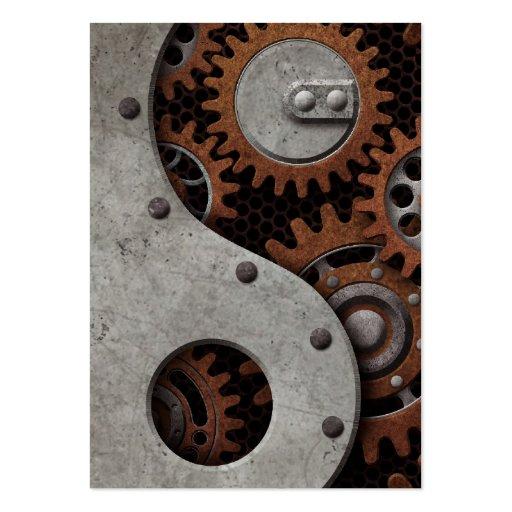 Steampunk Yin Yang Business Card Templates