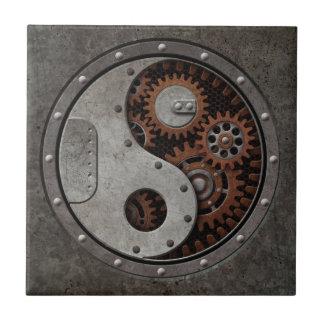 Steampunk Yin Yang Small Square Tile
